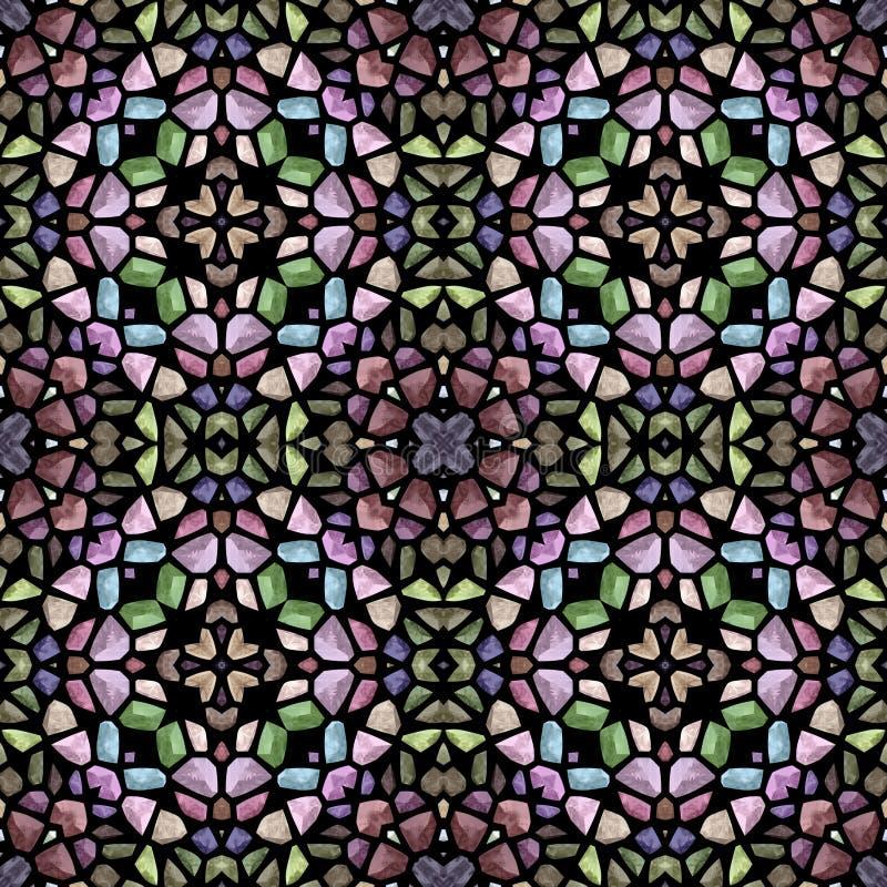 Oud mozaïek in nostalgische kleurentextuur vector illustratie