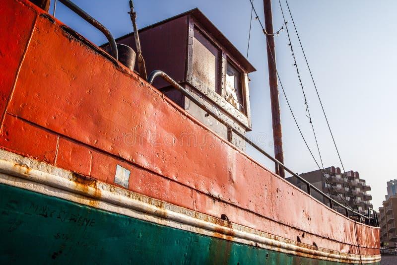 Oud multi-colored vervoerschip stock fotografie