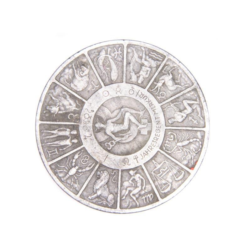 Oud muntstuk stock afbeeldingen