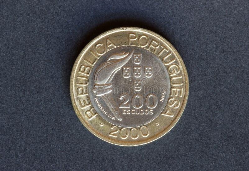 Oud muntstuk 200 schilden royalty-vrije stock foto