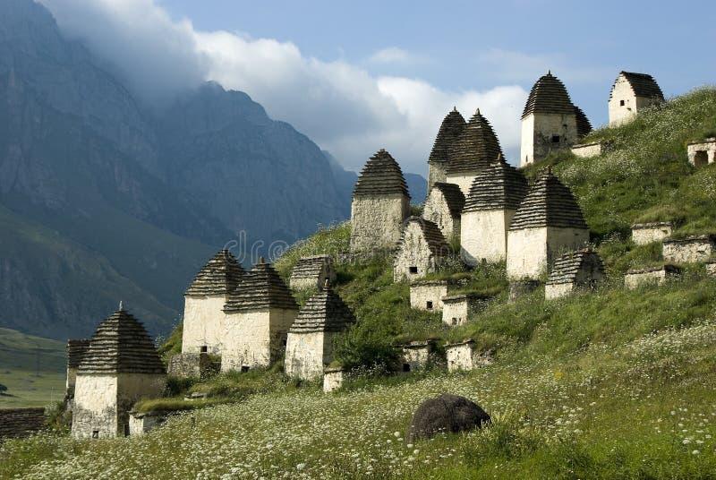 Oud necropool in Noord-Ossetië royalty-vrije stock fotografie