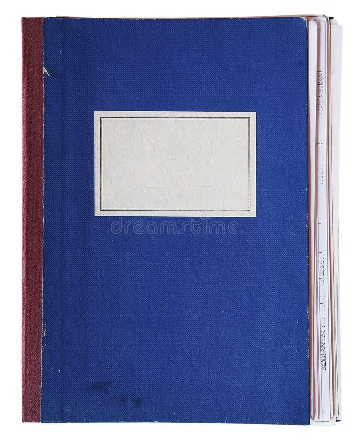 Oud notitieboekje stock foto's