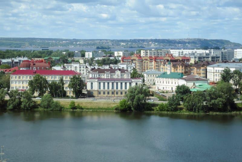 Oud-old-Tatar nederzetting van de Marjanimoskee van Kazan royalty-vrije stock fotografie