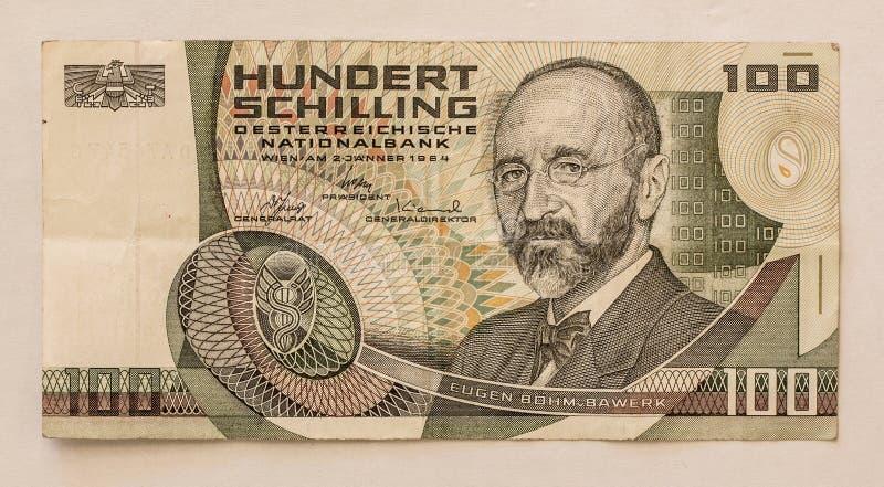 Download Oud Oostenrijks Bankbiljet: 100 Schilling 1984 Stock Afbeelding - Afbeelding bestaande uit waard, geld: 39105881