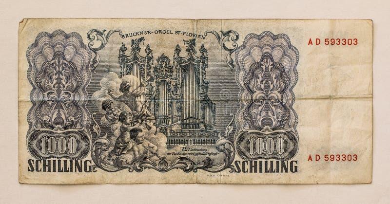 Download Oud Oostenrijks Bankbiljet: 1000 Schilling 1954 Stock Afbeelding - Afbeelding bestaande uit bank, eeuw: 39105921