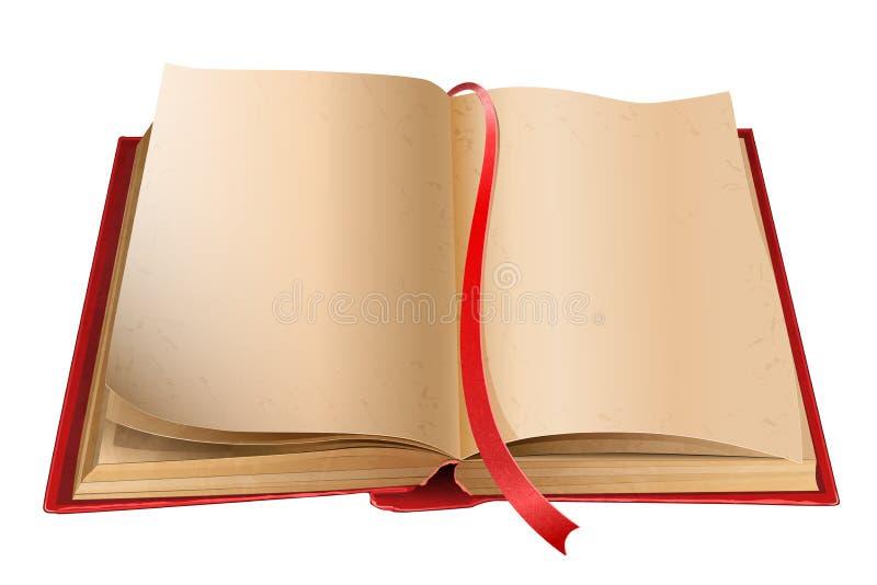 Oud open boek vector illustratie