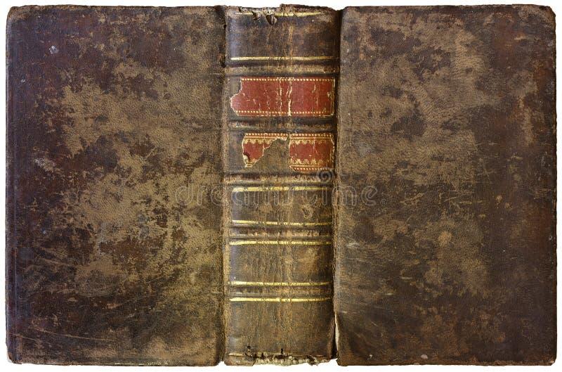 Oud open boek 1750 stock fotografie