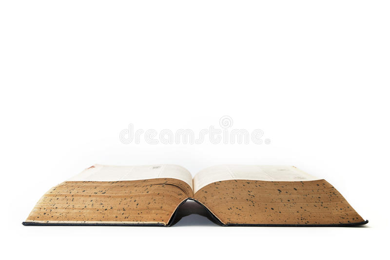 Oud Open Woordenboek stock afbeeldingen
