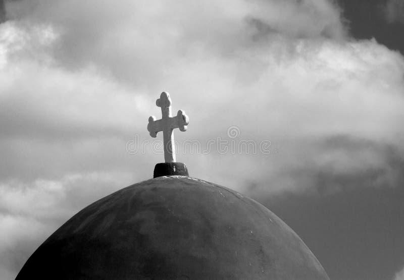 Oud orthodox kruis stock afbeelding