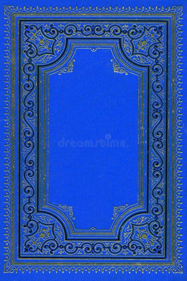 Oud oud diep blauw boek stock afbeeldingen