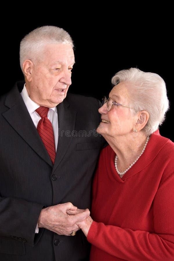 Oud paar in liefde stock fotografie