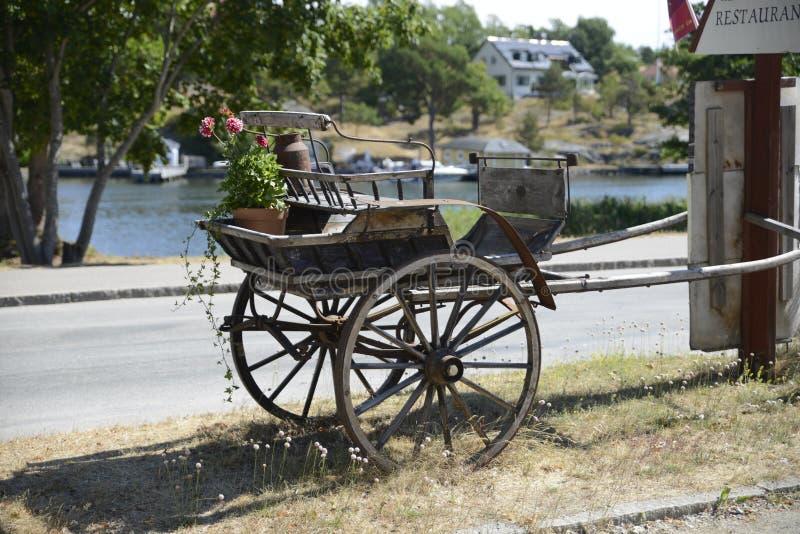 Oud paardvervoer royalty-vrije stock foto