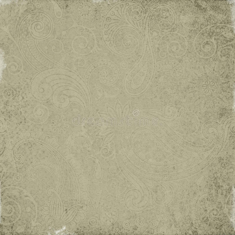 Oud Paisley siert textuur stock fotografie