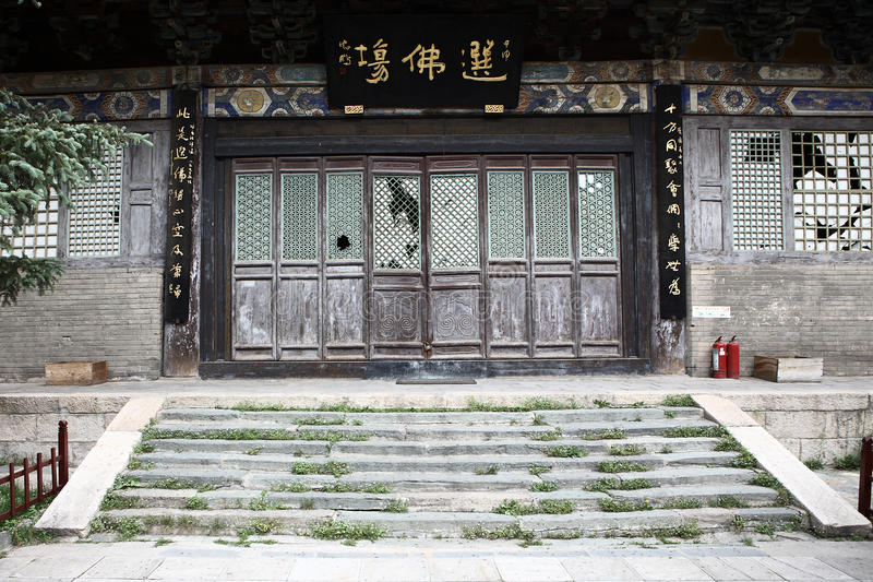 Oud paleis in de tempel stock fotografie