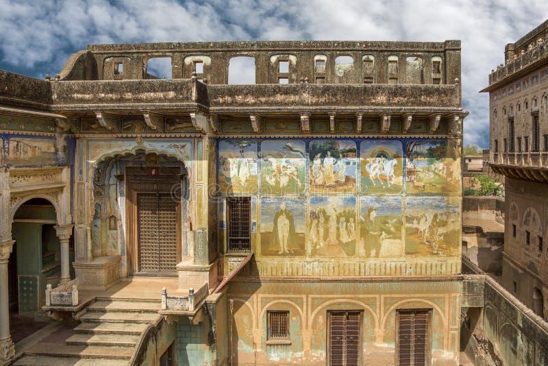 Oud paleis India stock afbeeldingen