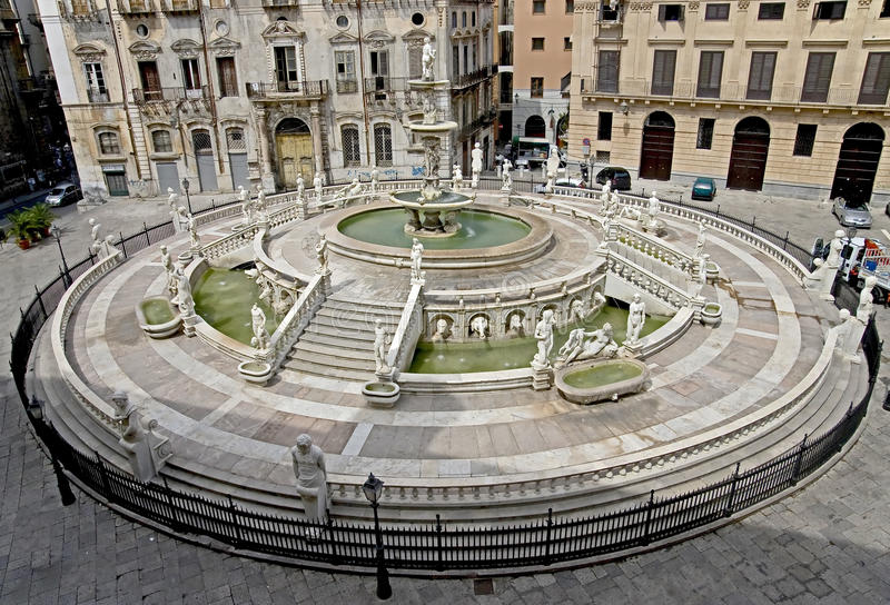 Oud Palermo 4 stock foto