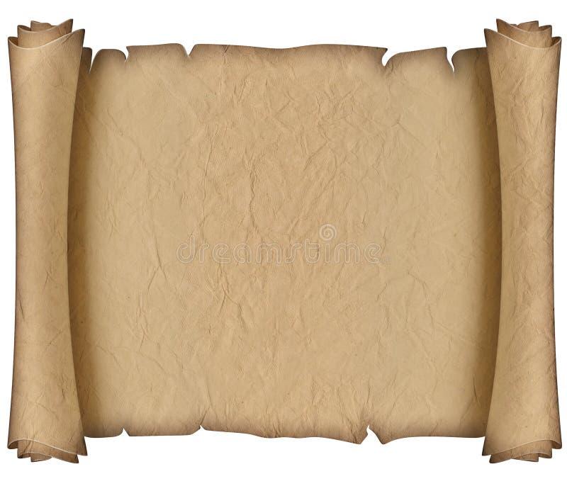 Oud papremanuscript stock afbeelding