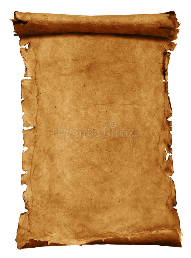 Oud perkamentdocument royalty-vrije illustratie