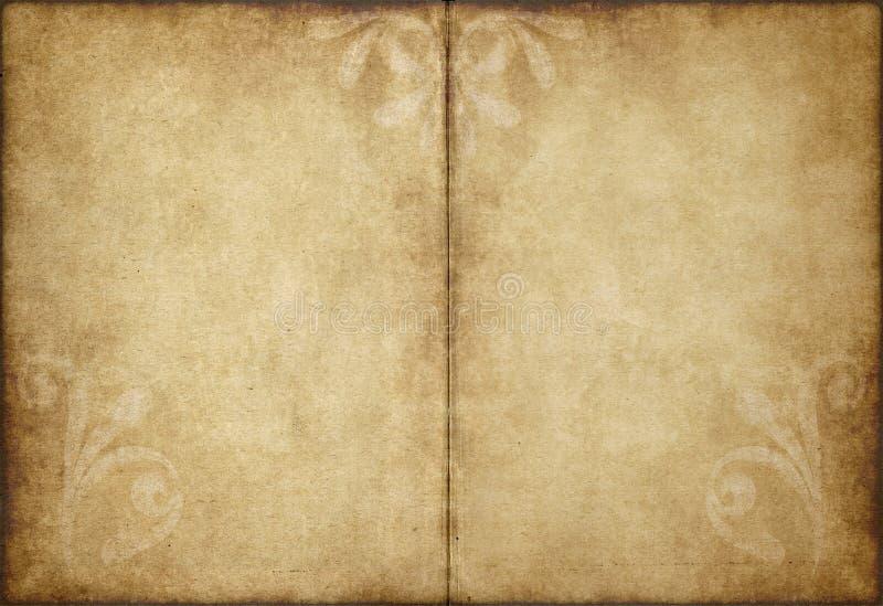 Oud perkamentdocument stock illustratie