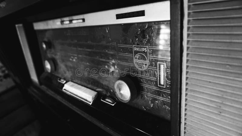 Oud Philips Radio stock fotografie