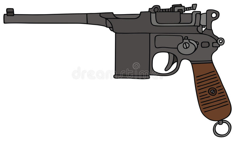 Oud pistool royalty-vrije illustratie