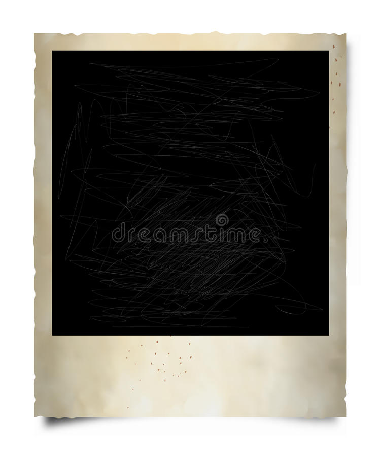 Oud Polaroid- Frame vector illustratie