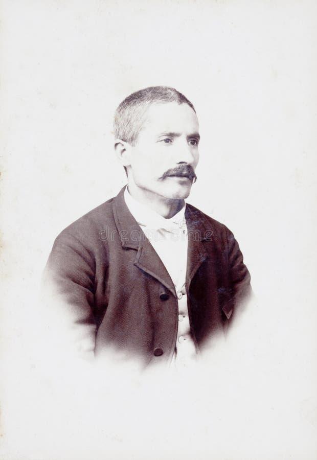 Oud Portret van een mens royalty-vrije stock afbeelding