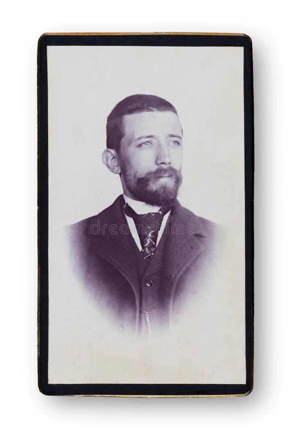 Oud Portret van een mens royalty-vrije stock foto