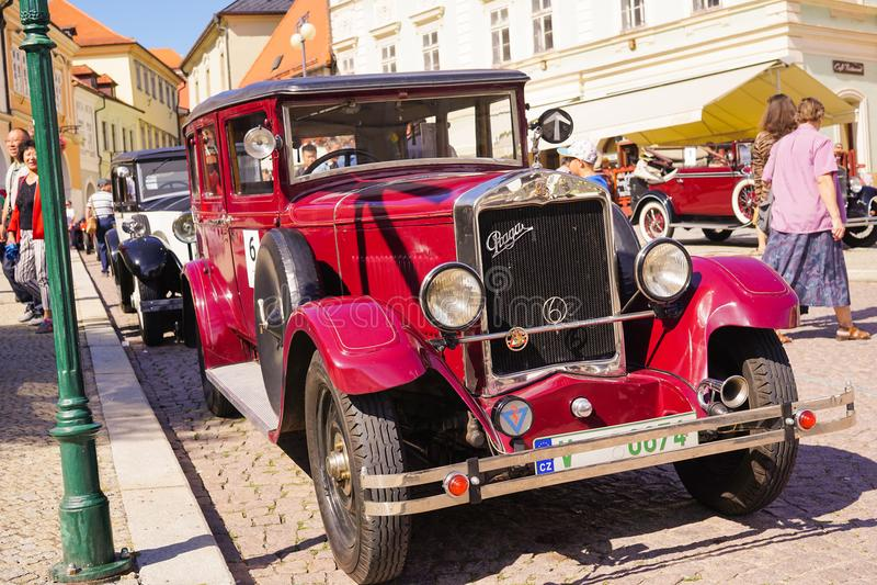 Oud Praga Car - Oud Autofestival royalty-vrije stock afbeeldingen