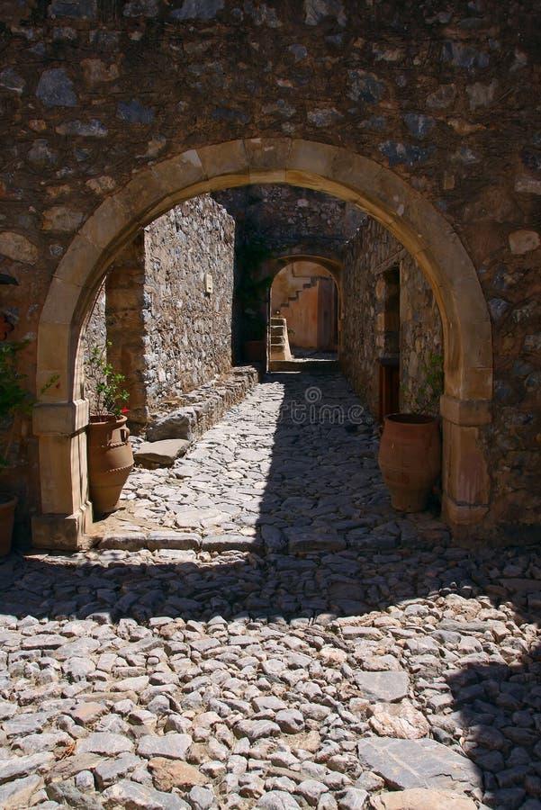 Oud Preveli-klooster stock foto