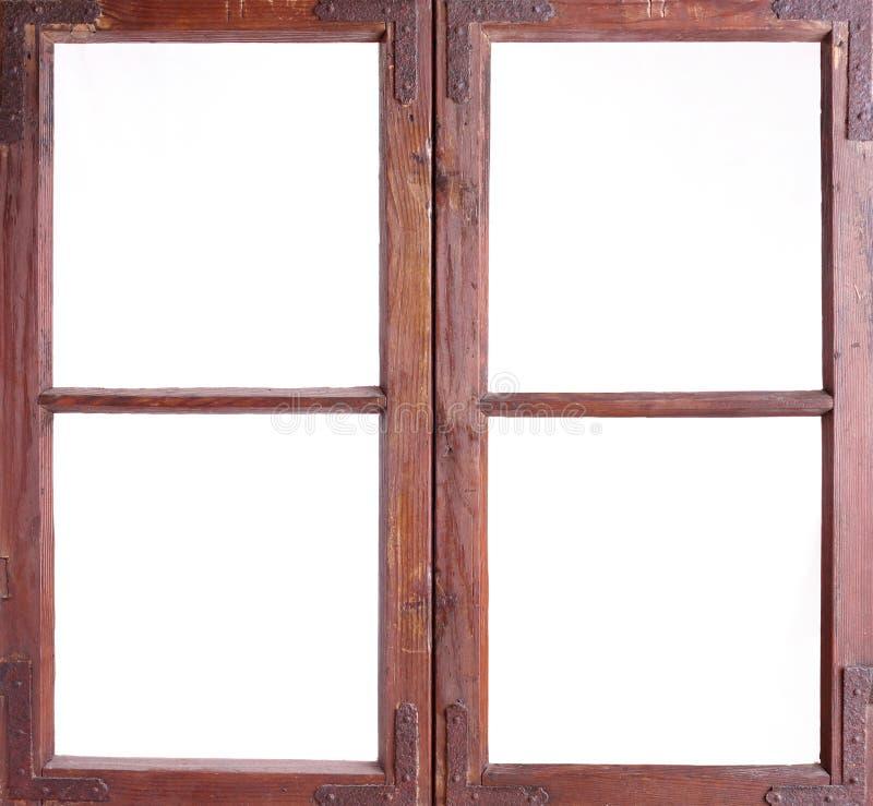 Oud raamkozijn stock foto