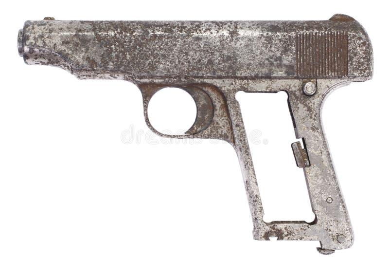 Oud roestig pistool royalty-vrije stock afbeeldingen