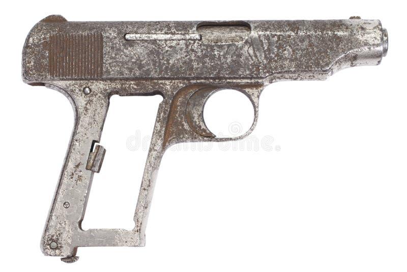 Oud roestig pistool royalty-vrije stock afbeelding