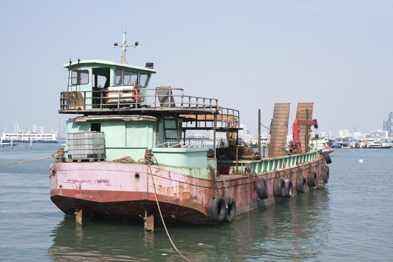 Oud roestig schip stock foto