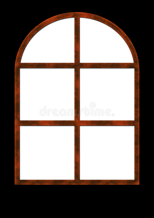 Oud roestig venster royalty-vrije stock afbeeldingen