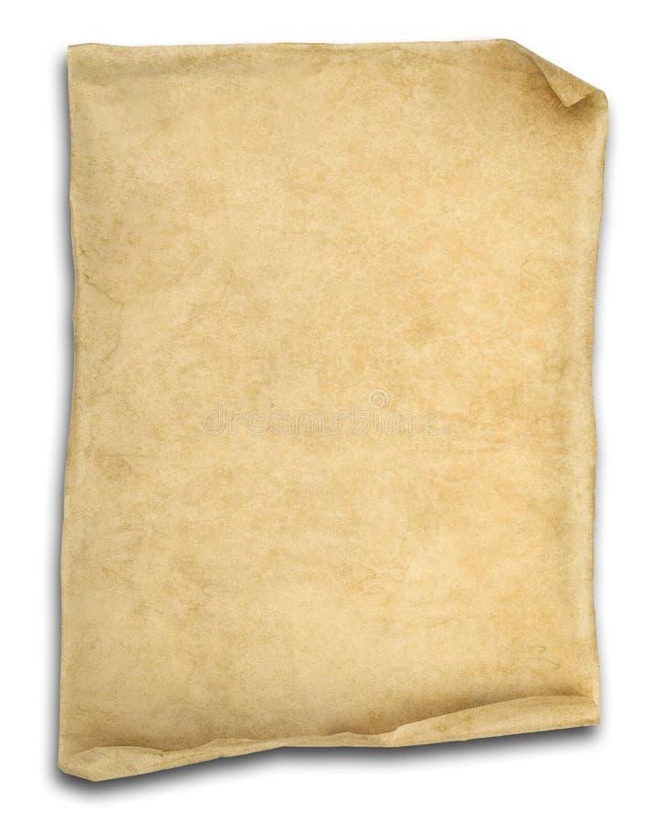 Oud roldocument dat op wit wordt geïsoleerdi royalty-vrije stock foto's