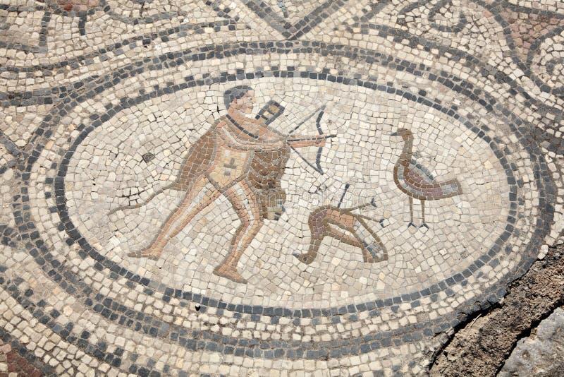 Oud Roman mozaïek royalty-vrije stock foto's