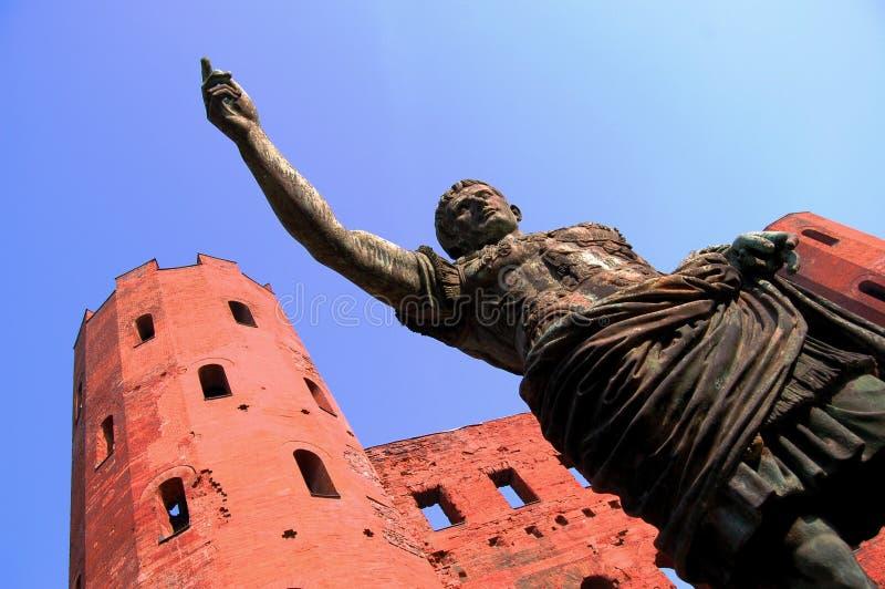 Oud roman standbeeld   stock afbeeldingen