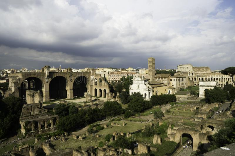 Oud Rome met Historische Architectuur royalty-vrije stock afbeelding