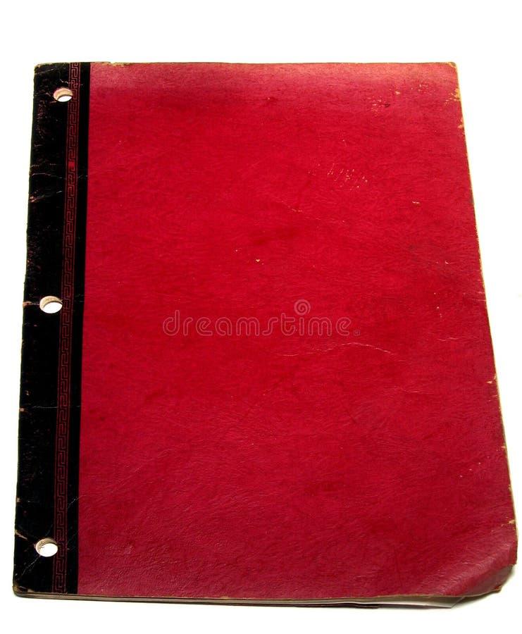Oud Rood Boek stock afbeelding
