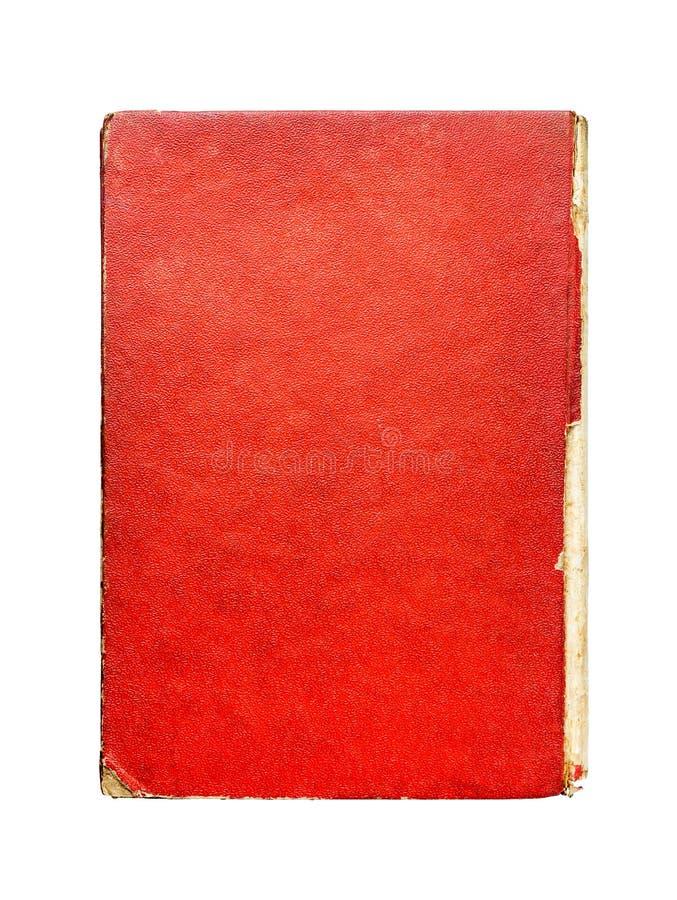 Oud rood document, hardcover van boek, abstracte textuur, uitstekende rug royalty-vrije stock afbeelding