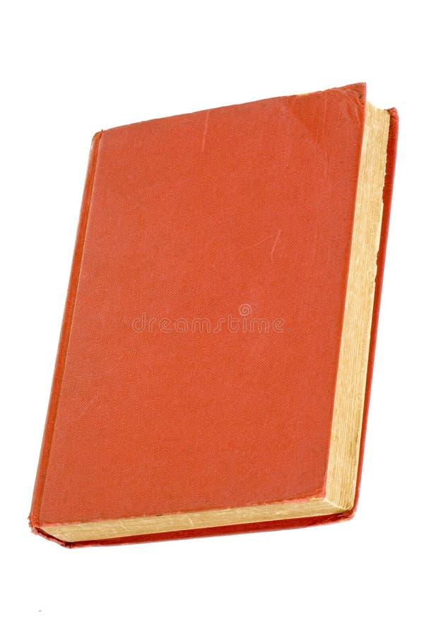 Oud rood hardcoverboek stock foto