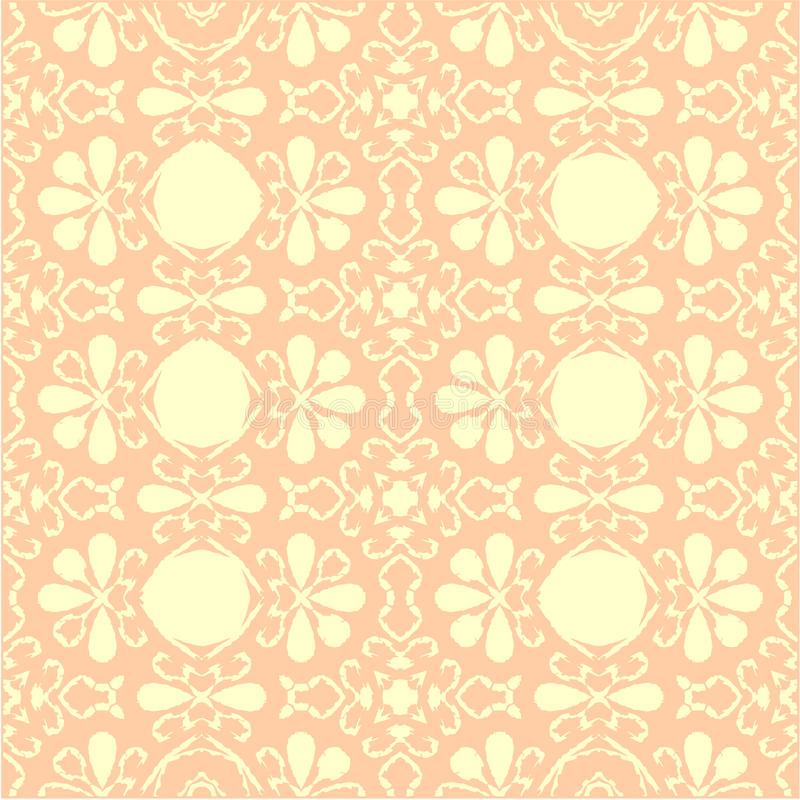 Oud roze behang royalty-vrije illustratie