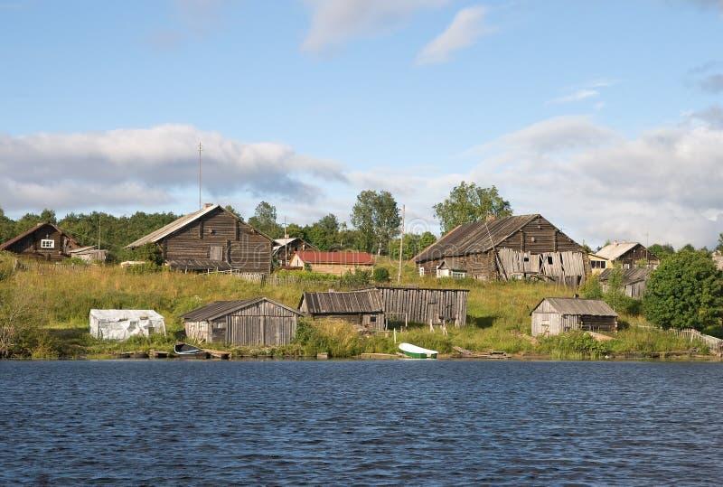 Oud Russisch dorp stock foto