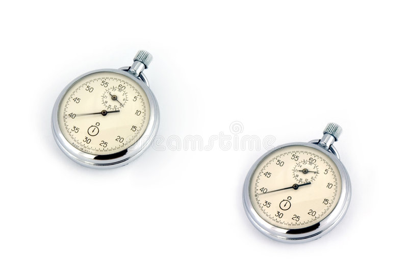 Oud Russisch horloge royalty-vrije stock foto's