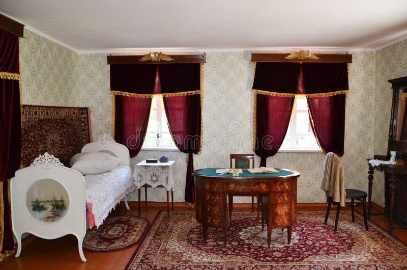 Oud Russisch huis stock afbeelding