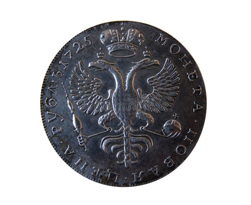 Oud Russisch muntstuk stock afbeeldingen
