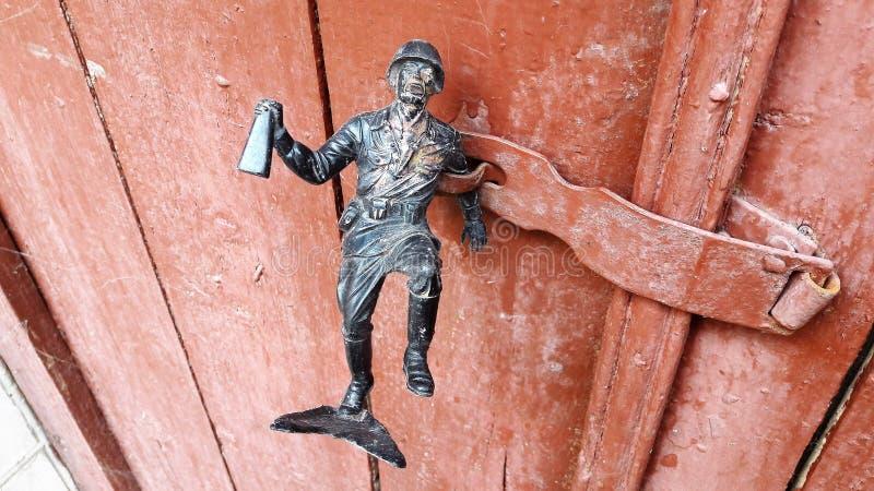 Oud Rusty Latch stock foto