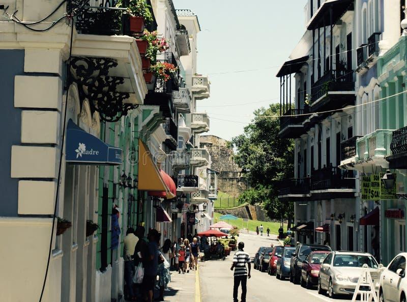 Oud San Juan Puerto Rico stock afbeelding