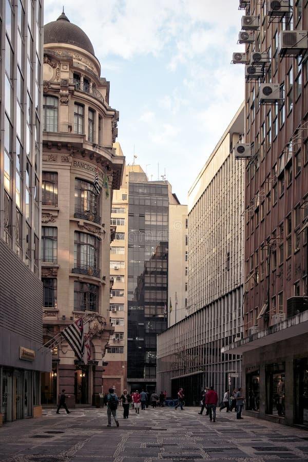 Oud Sao Paulo van de binnenstad, Brazilië stock foto's